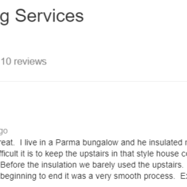 Parma, OH Insulation Contractor: Attic Insulation Customer Review